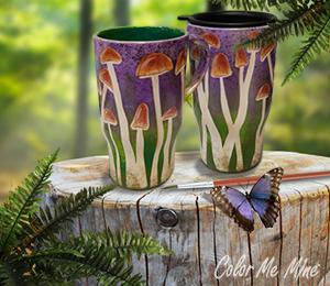 Costa Rica Mushroom Mugs