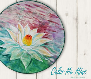 Costa Rica Lotus Flower Plate