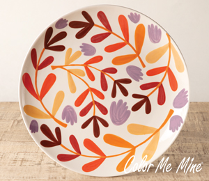 Costa Rica Fall Floral Charger