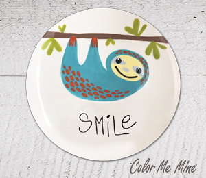 Costa Rica Sloth Smile Plate