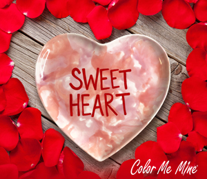 Costa Rica Candy Heart Plate