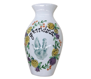 Costa Rica Floral Handprint Vase
