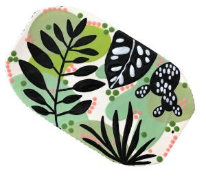 Costa Rica Leafy Charcuterie Board