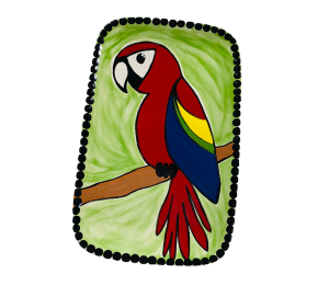 Costa Rica Scarlet Macaw Plate