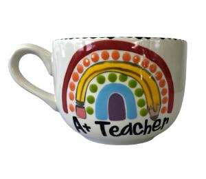 Costa Rica Polka Dot Rainbow Mug